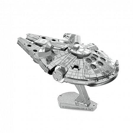 Металлическая сборная 3D модель Космический корабль Millennium Falcon, Metal Earth (MMS251)