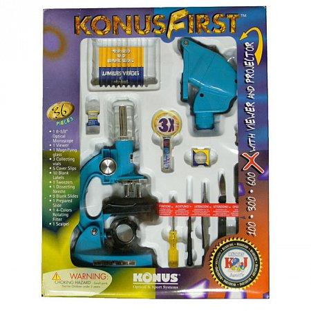 Микроскоп KONUS KONUSFIRST (100x, 300x, 600x), 5015