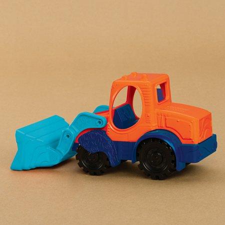 Мини-экскаватор (цвет морской-мандариновый-океан), игрушка для игры с песком, Battat, BX1440Z
