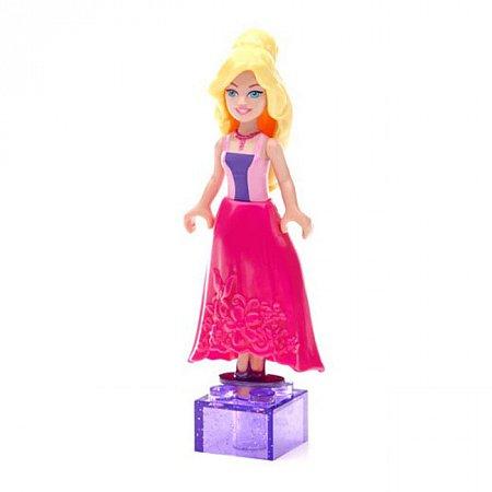 Мини-фигурка Принцесса, Princess Barbie, Mega Bloks, блондинка в розовом платье, CNF71-6