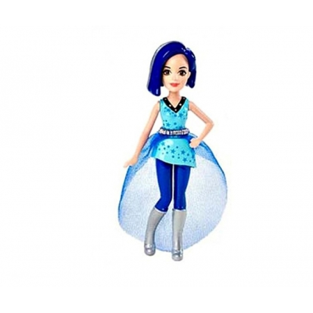 Мини-кукла в синем, серия Рок-принцесса. Barbie. Mattel, с короткой стрижкой, CKB72-3
