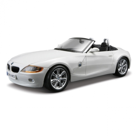 Модель автомобиля BMW Z4, белый, 1:24, Bburago, белый (18-22002-1)