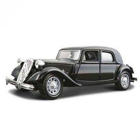 Модель автомобиля Citroen 15 CV TA (1938), черный, 1:24, Bburago, черный (18-22017-2)