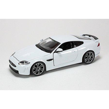 Модель автомобиля Jaguar XKR-S, красный, 1:24, Bburago, белый (18-21063-1)