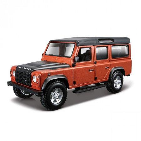 Модель автомобиля Land Rover Defender 110, оранжевый металлик, 1:32, Bburago, Оранжевый (18-43029-1)