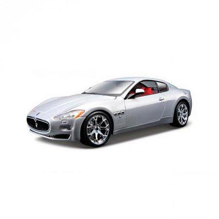 Модель автомобиля Maserati Grantourismo (2008), 1:24, Bburago, серебристая (18-22107-1)