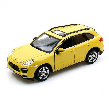 Модель автомобиля Porsche Cayenne Turbo, желтый, 1:24, Bburago, Желтый (18-21056-1)