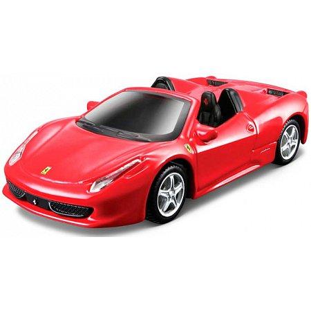Модель Ferrari 458 Spider, красный, 1:43, Bburago, 18-36100-13