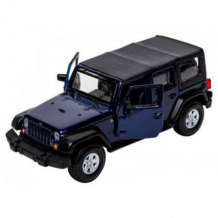 Модель - Jeep Wrangler Unlimited Rubicon (темно-синий металлик) 1:32, Bburago, 18-43012-1