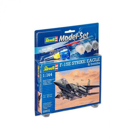 Model Set Истребитель F-15E STRIKE EAGLE & bombs,1:144,12+ Revell, 63972