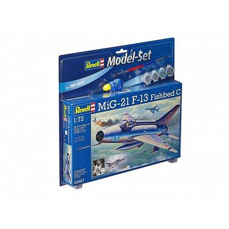 Model Set Многоцелевой истребитель MiG-21 F-13 Fishbed C,1:72,11+ Revell, 63967