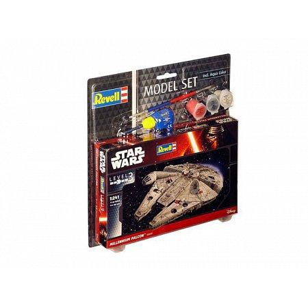 Model Set Revell Звездные войны. Космический корабль Millennium Falcon,1:241,10+, 63600