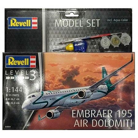Model Set Самолет Embraer 195, 1:144, Revell, 64884