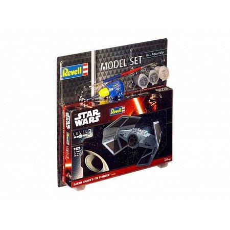 Model Set-Звездные войны.Космический корабль Дарта Вейдера TIE,1:121,10+ Revell, 63602