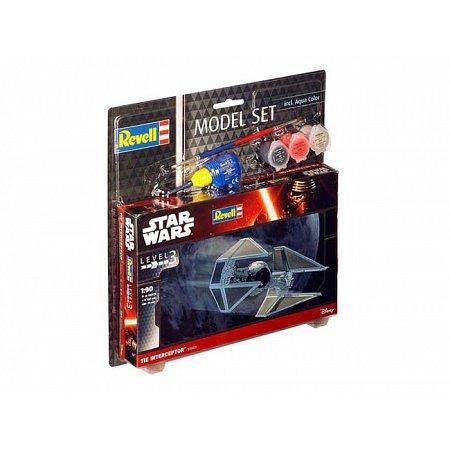 Model Set-Звездные войны.Космический корабль TIE Interceptor,1:90,10+ Revell, 63603