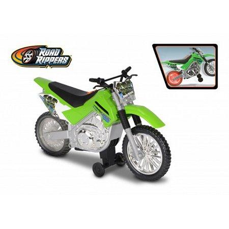 Мотоцикл Kawasaki KLX 140 Moto-Cross Bike со светом и звуком 25 см, Toy State, 33412