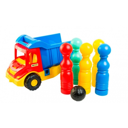 Multi truck грузовик с кеглями, Wader, 39220