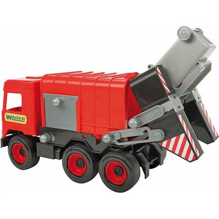 Мусоровоз (42 см), Middle Truck, красный, Wader, 39488