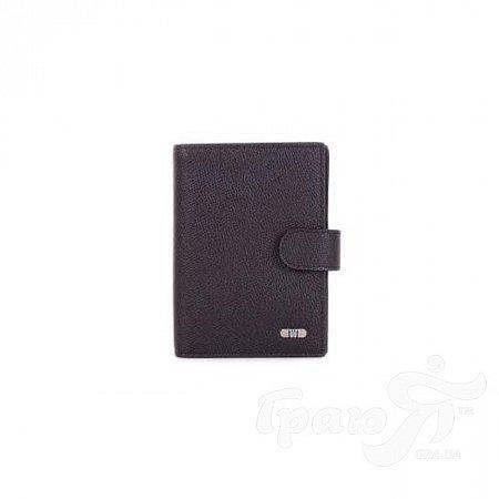 Мужское кожаное портмоне с бумажником для водителя WANLIMA (ВАНЛИМА) W31559470053-black