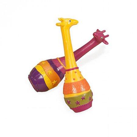 Музыкальная игрушка серии ДЖУНГЛИ - набор маракасов ДВА ЖИРАФА, Battat BX1251GTZ