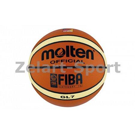 Мяч баскетбольный Composite Leather №7 MOLTEN GL7 Indoor/Outdoor (оранжевый)