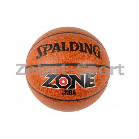 Мяч баскетбольный Composite Leather №7 SPALDING 74508Z ZONE ALL SURFACE Indoor/Outdoor (оранжевый)
