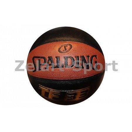 Мяч баскетбольный PU №7 SPALDING 74489Z TF-33 IO SZ7 COMP (PU, бутил, черно-красный)