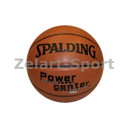 Мяч баскетбольный PU №7 SPALDING BA-4257 POWER CENTER (PU, бутил, оранжевый)