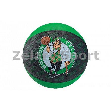 Мяч баскетбольный резиновый №7 SPALDING 73935Z NBA Team Basketball-Celtics 2013 (резина, бутил)
