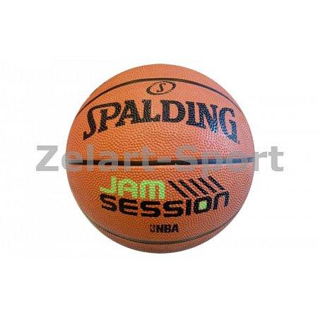 Мяч баскетбольный резиновый №7 SPALDING 83187Z JAM SESSION BRICK (резина, бутил, коричневый)