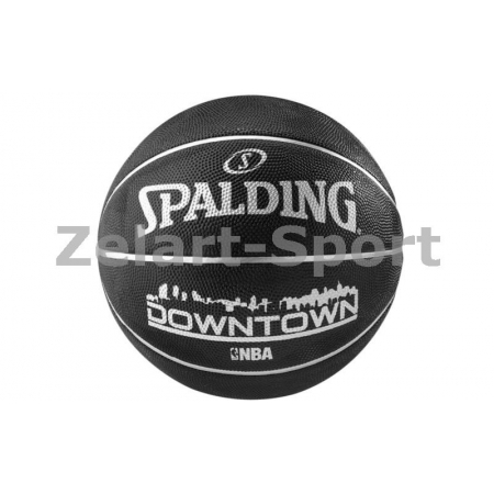 Мяч баскетбольный резиновый №7 SPALDING 83205Z 2015 DOWNTOWN (резина, бутил, черный)