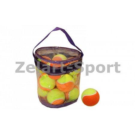 Мяч для большого тенниса (12шт) Цветные W829-12 (PVC сумка)