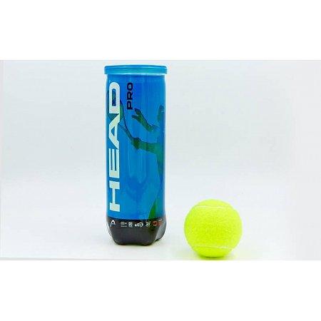 Мяч для большого тенниса HEAD (3шт) 571023 PRO CAN (в вакуумной упаковке)