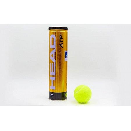 Мяч для большого тенниса HEAD (4шт) 570314 ATP METAL CAN (в вакуумной упаковке)