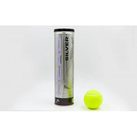 Мяч для большого тенниса HEAD (4шт) 571304 SILVER METAL CAN (в вакуумной упаковке)