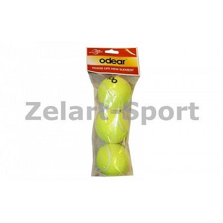 Мяч для большого тенниса ODEAR (3шт) 661 (в пакете)