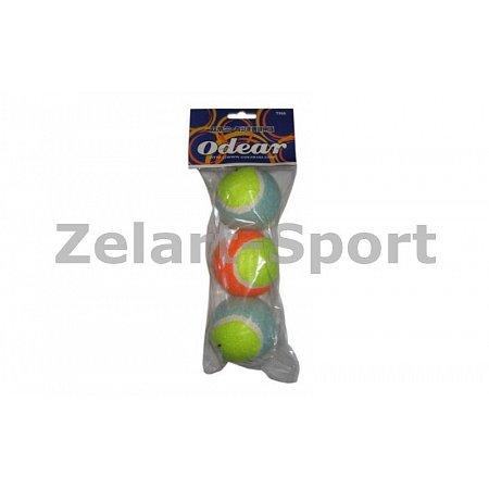 Мяч для большого тенниса ODEAR (3шт) T966 (в пакете)