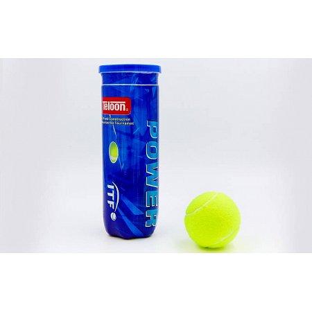 Мяч для большого тенниса TELOON (3шт) T616P3 POWER (в вакуумной упаковке)