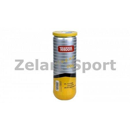 Мяч для большого тенниса TELOON (3шт) T802 (в вакуумной упаковке)