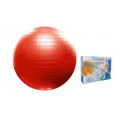 Мяч для фитнеса (фитбол) PS гладкий сатин 65см FI-075(65) (PVC, 1100г, красный,голубой, АВS-система)