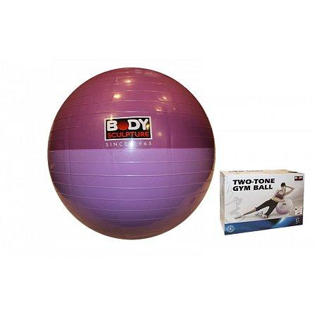 Мяч для фитнеса (фитбол) SOLEX гладкий глянцевый двухцветный 65см BB-001EPP-26 (PVC, ABS-система)