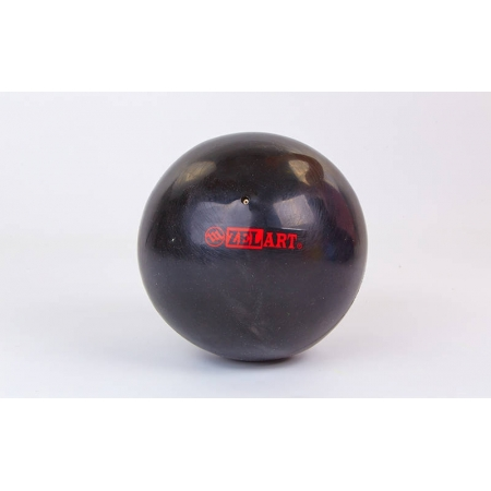 Мяч для пилатеса и йоги Pilates ball Mini ZEL GB-5219-BK (PVC, d-20см, 400гр, черный)