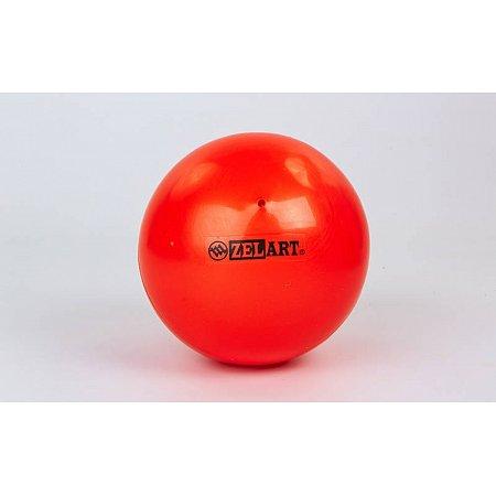 Мяч для пилатеса и йоги Pilates ball Mini ZEL GB-5219-OR (PVC, d-20см, 400гр, оранжевый)