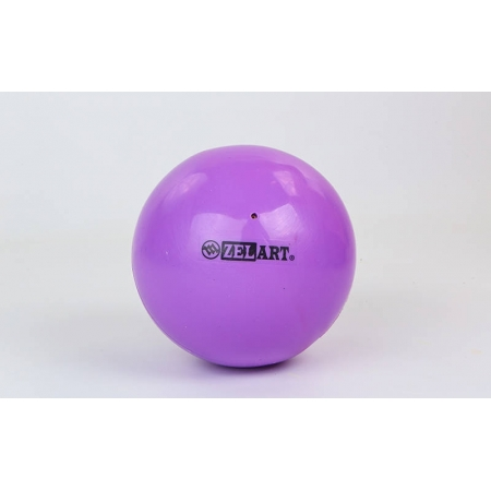 Мяч для пилатеса и йоги Pilates ball Mini ZEL GB-5219-V (PVC, d-20см, 400гр, фиолетовый)