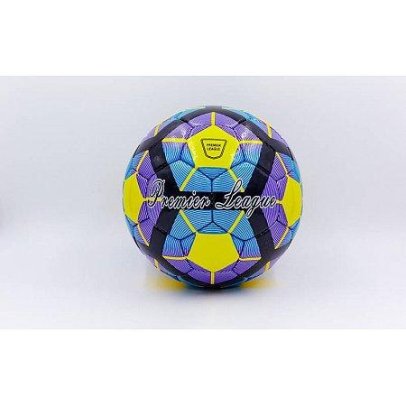 Мяч футбольный №4 DX PREMIER LEAGUE FB-5424-4 желтый-синий-фиолетовый (5 сл., сшит вручную)