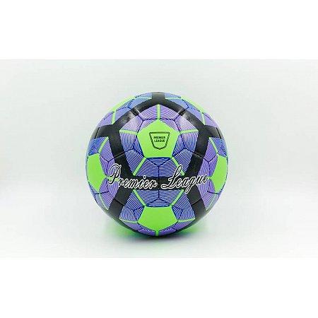 Мяч футбольный №4 DX PREMIER LEAGUE FB-5424-6 зеленый-т.синий-фиолетвый (5 сл., сшит вручную)