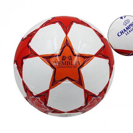 Мяч футбольный №4 PU ламин. CHAMPIONS LEAGUE FB-1433 (№4, 5 сл., сшит вручную)