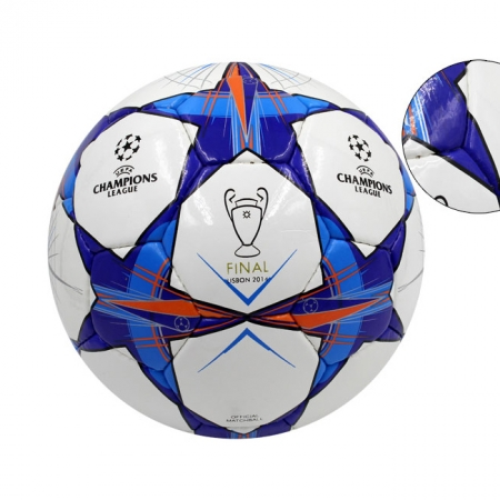 Мяч футбольный №4 PU ламин. CHAMPIONS LEAGUE FB-1486 (№4, 5 сл., сшит вручную)