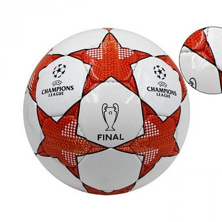 Мяч футбольный №4 PU ламин. CHAMPIONS LEAGUE FB-4660 (№4, 5 сл., сшит вручную)