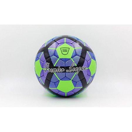 Мяч футбольный №5 DX PREMIER LEAGUE FB-5423-1 (№5, 5 сл., сшит вручную, синий-зеленый-черный)